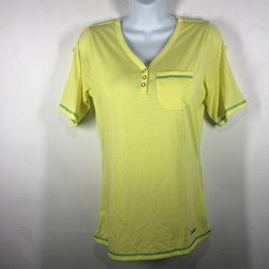 Cabela's yellow tee size small